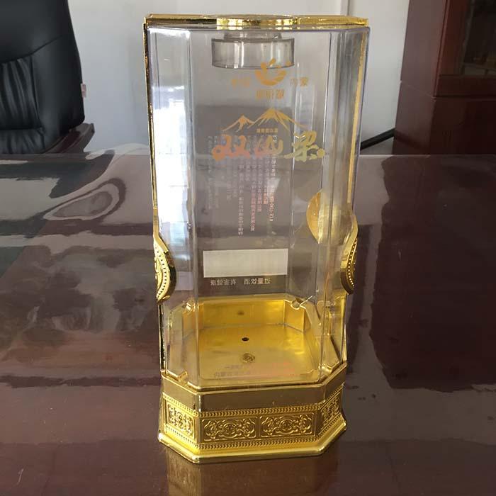 新款八角加套酒盒